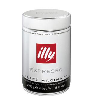 illy koffiebonen - donkere branding
