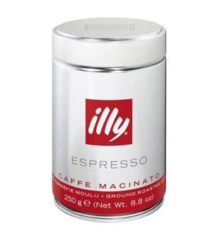 illy gemalen koffie - normale branding
