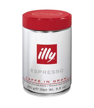 illy koffiebonen - normale branding